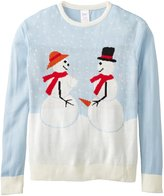 Forum Novelties Adult Extra Large Snow Couple Ugly Christmas Sweater