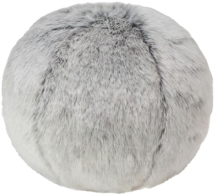 Evelyne Prélonge Evelyne Prelonge - Faux Fur Snowball Cushion - Glacier - Medium
