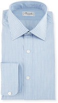Charvet Graph Check Dress Shirt, Blue