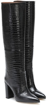 Paris Texas Croc-effect leather knee-high boots