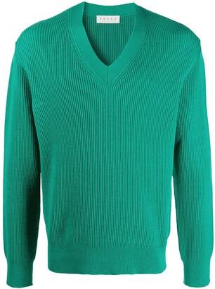 Paura V-neck knitted jumper
