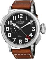 Zenith Men's 032430693.21C Pilot Swiss Watch with Brown Band