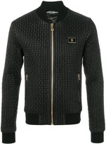 Dolce & Gabbana quilted bomber jacket - men - Sheep Skin/Shearling/Polyamide - 48