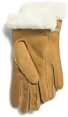 Seamed Suede Tech Gloves