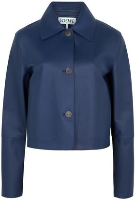 Loewe Navy leather jacket
