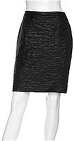 Crinkled Metallic Pencil Skirt
