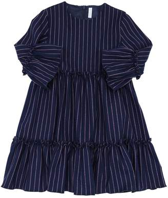 Il Gufo Stripes Viscose Blend Dress