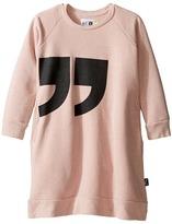 Nununu Quotation Extra Soft A-Line Sweatshirt Dress (Little Kids/Big Kids)