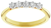 Enchanted 9ct Gold 0.25ct tw Diamond 5 Stone Eternity Ring