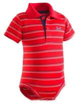 Under Armour Stripe Polo Bodysuit in Red