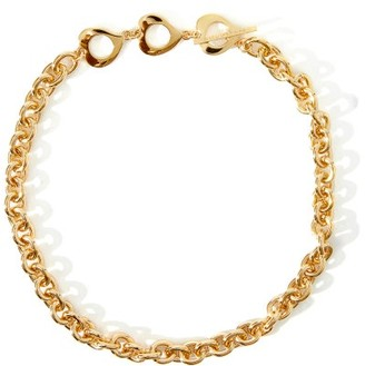 Saint Laurent Chain-link Gold-plated Choker - Gold