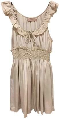 Ducie Ecru Silk Dress for Women