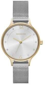Skagen Anita Two-Tone Stainless Steel Mesh Strap Watch