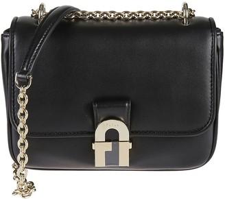 Furla Chain Leather Strap Shoulder Bag
