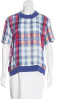 Thakoon Oversize Plaid Print Top
