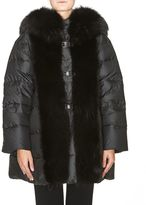 Ermanno Scervino Fur Details Down Jacket