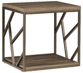Inspire Q Logan Geometric Cutout Side End Table Brown