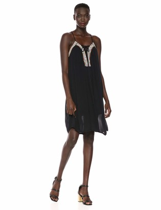 BCBGeneration Women's Embroidered Lace Up Dress