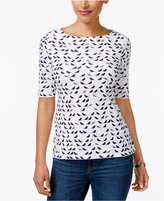 Charter Club Print Metallic-Threaded Top, Only at Macy's