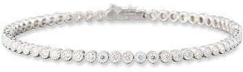 Memoire Diamond Line Bracelet in 18K White Gold