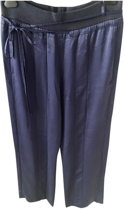 Haider Ackermann Blue Silk Trousers