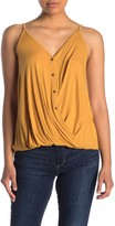 Lush Twisted Hem Button Front Camisole