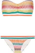 Missoni Mare Rhombus Crochet-knit Bandeau Bikini - Orange