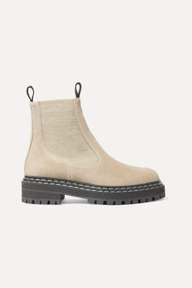 Proenza Schouler Suede Chelsea Boots - Taupe
