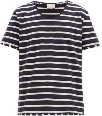 Gucci Striped Cotton-jersey T-shirt - Mens - Black White