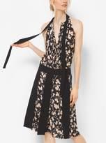 Michael Kors Floral Silk-Georgette Streamer Skirt