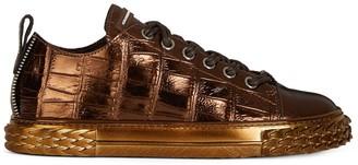 Giuseppe Zanotti Croco Effect Sneakers