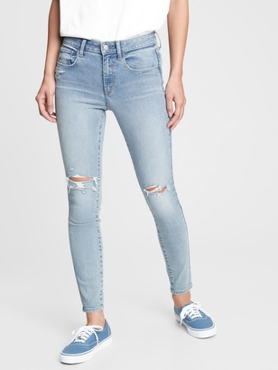 Gap Mid Rise Distressed Universal Jeggings