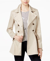 Maison Jules Ruffled Trench Coat, Only at Macy's