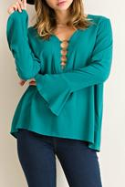 Entro Solid O-Ring Blouse