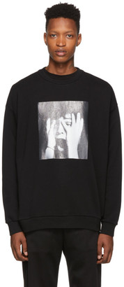 Marcelo Burlon County of Milan Black Scared Face Sweatshirt