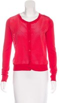Sandro Perforated Knit Cardigan
