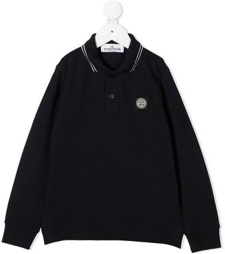 Stone Island Junior Logo Patch Polo Shirt