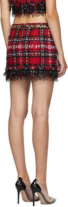 Balmain Multicolor Tweed Tartan Miniskirt