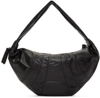 Lemaire Black Leather Large Bum Bag