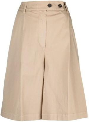 Semi-Couture wide leg Bermuda shorts