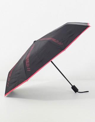 Karl Lagerfeld Paris logo detail umbrella in pink