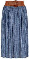 Dorothy Perkins Blue polka dot midi skirt