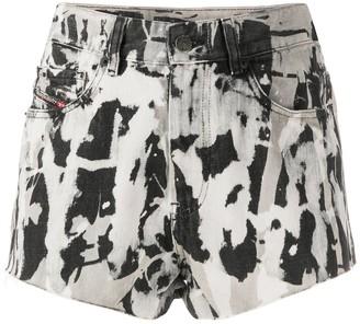 Diesel Tie Dye Denim Shorts