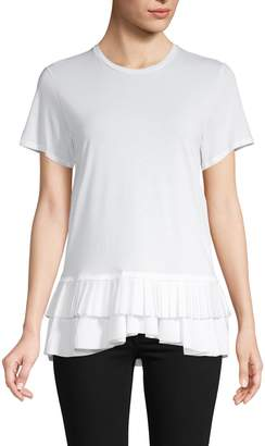 Alexander McQueen Ruffled Cotton Top