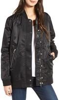 Blank NYC Women's Blanknyc Long Nylon Bomber Jacket