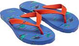 Joules Little Joule Children's Dinosaur Flip Flops, Blue