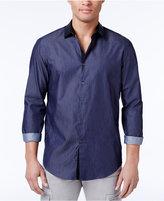 INC International Concepts Men's Contrast-Trim Cotton Shirt, Created for Macy's
