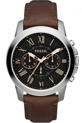 Fossil Mens Grant Chronograph Watch FS4813