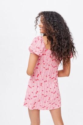 Glamorous Cherry Puff Sleeve Mini Dress