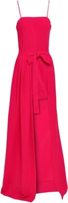 Cinq à Sept Asymmetric Stretch-crepe Gown